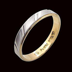 真愛不變-白金雙色戒