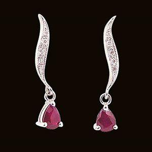 飄逸-紅寶石耳環