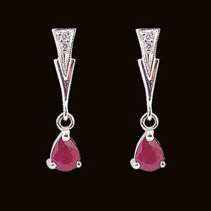 喜悅-紅寶石耳環
