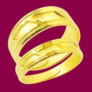 愛的迴廊-黃金結婚對戒