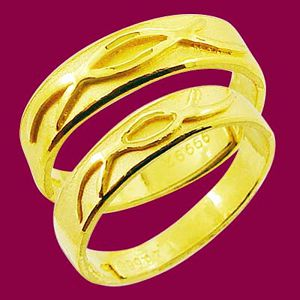 琴瑟和鳴-黃金結婚對戒