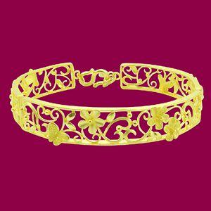 花漾手環 單隻-黃金手鐲