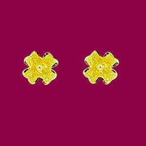 美麗花兒-黃金耳環
