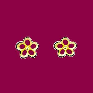 微笑花兒-黃金耳環