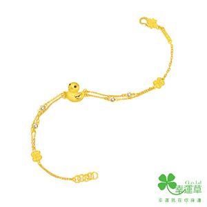 幸運鴨ㄚ-黃金手鍊