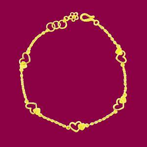 真心圍繞-黃金手鍊