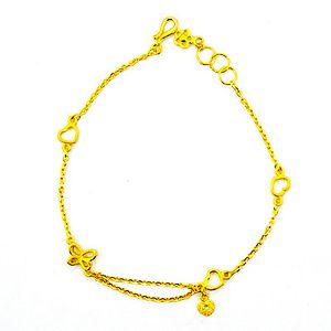 真心祝福-黃金手鍊