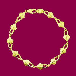 楓葉相連-黃金手鍊