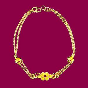 甜蜜花朵-黃金手鍊
