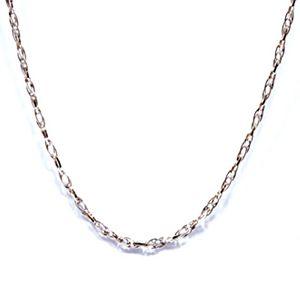 麻花-白金項鍊