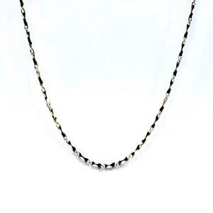 竹節-白金項鍊