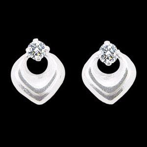 諾言-白金耳環
