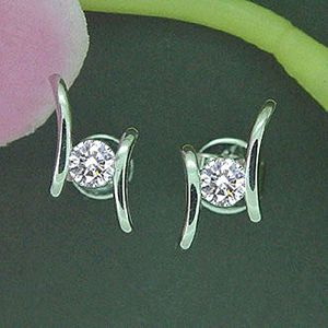 浪漫曲-鑽石耳環