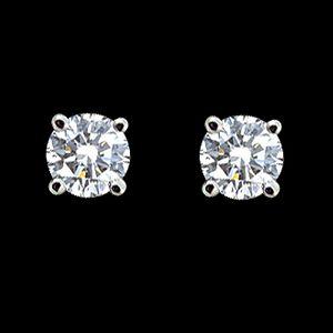 四方納福-鑽石耳環