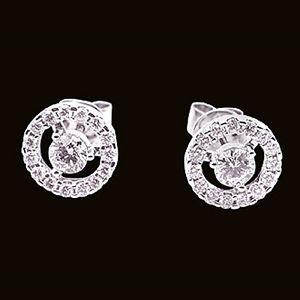 真心圍繞-鑽石耳環