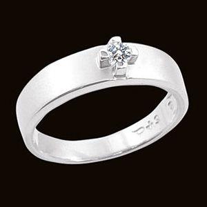 愛和承諾-鑽石男戒