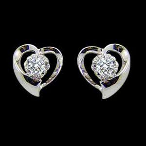 愛同心-鑽石耳環
