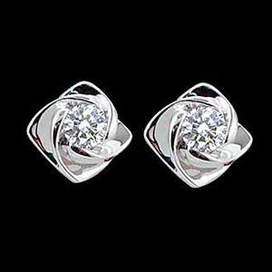 玫瑰戀-鑽石耳環