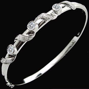 纏繞-鑽石手環
