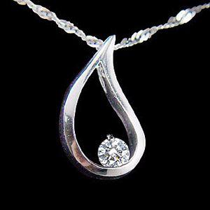 愛的淚滴-鑽石墜子