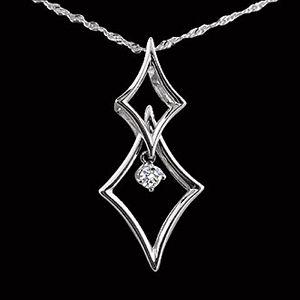 堅定之心-鑽石墜子
