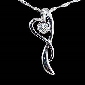 愛的擁抱-鑽石墜子