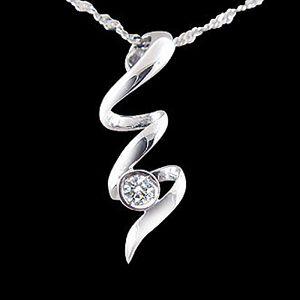 愛的漩渦-鑽石墜子