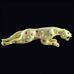 金錢豹-男士領夾(配鑽)