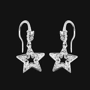 流星-鑽石耳環