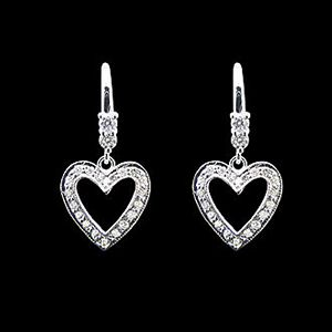停不了的愛-鑽石耳環