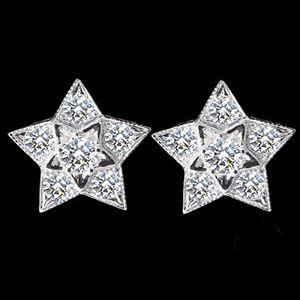 閃耀星光-鑽石耳環