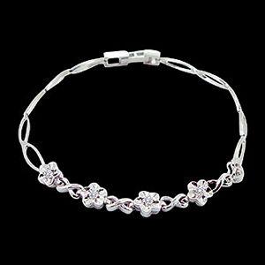 花的歡頌-鑽石手鍊