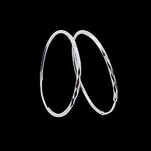 菱格刻花耳環-義大利耳環