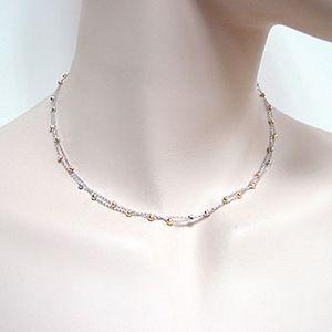 雙條式三色珠鍊-義大利項鍊