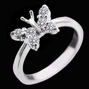 翩翩飛舞-鑽石戒指