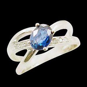 愛的軌跡-藍寶石女戒