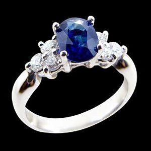 真意-藍寶石女戒