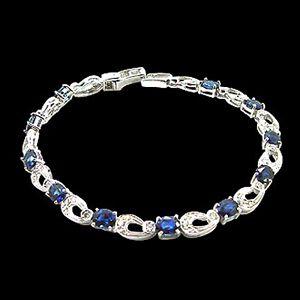 青玉天成-藍寶石手環
