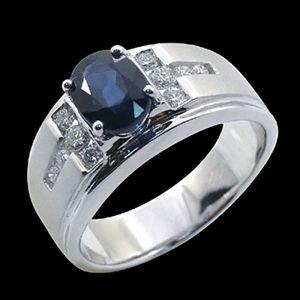 皇家極品-藍寶石男戒