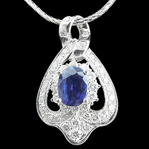 風華絕代-藍寶石墜子