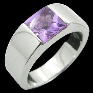紫水晶-水晶戒指