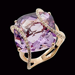 紫羅蘭之舞-水晶戒指
