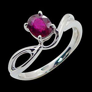 悠遊自在-紅寶石戒指