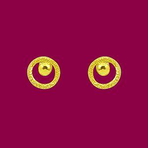 揚眉-黃金耳環