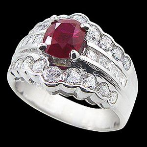 華麗-紅寶石戒指