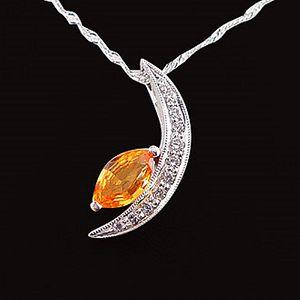 月亮代表我的心-黃寶石墜子