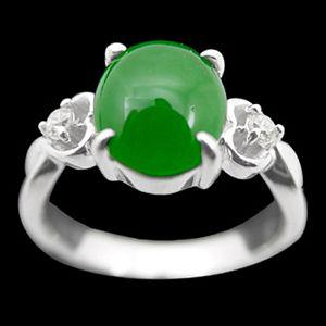 圓滿-玉石戒指