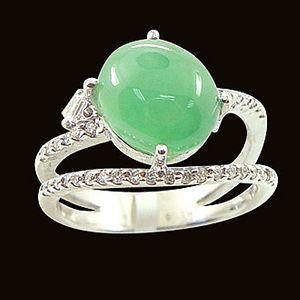 喜氣佳人-玉石戒指