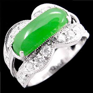 佳人馬鞍-玉石戒指
