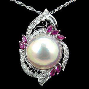 華麗-珍珠墜子